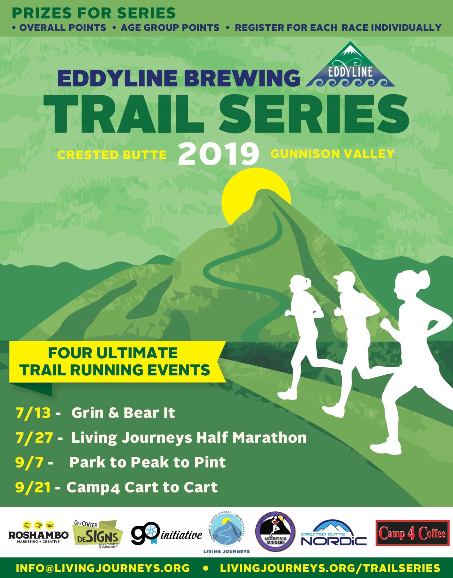 2019 Schedule of Trail Runs - CB Mountain Runners